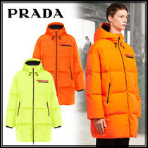 PRADA Nylon Plain Long Down Jackets
