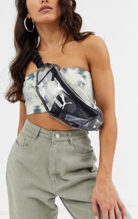 Casual Style Street Style Crystal Clear Bags Crossbody Logo