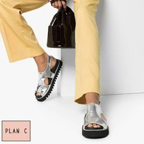 Plan C Open Toe Casual Style Street Style Plain Sandals Sandal
