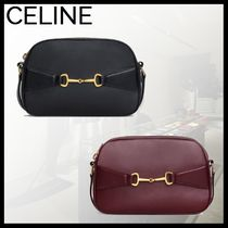CELINE Lambskin 2WAY Plain Crossbody Logo Camera Bag Shoulder Bags