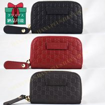 GUCCI Unisex Leather Coin Purses