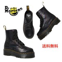 Dr Martens Platform Mountain Boots Round Toe Rubber Sole Casual Style