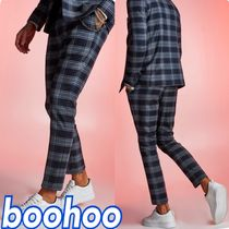 boohoo Other Check Patterns Street Style Chain Cropped Pants