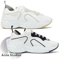 Acne Blended Fabrics Plain Leather Sneakers