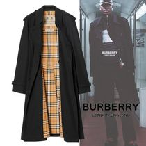 Burberry Other Check Patterns Street Style Plain Long Oversized