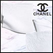 CHANEL Linen Plain Handkerchief