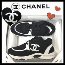CHANEL SPORTS Unisex Bi-color Plain Sneakers