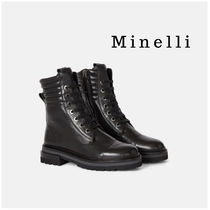 minelli Lace-up Casual Style Leather Lace-up Boots