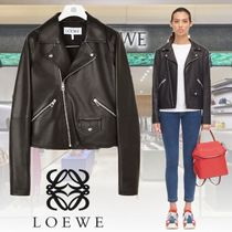 LOEWE Plain Leather Medium Biker Jackets