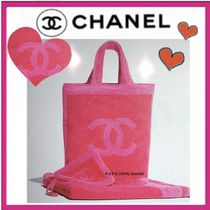 CHANEL SPORTS Casual Style Unisex A4 Bi-color Plain Totes