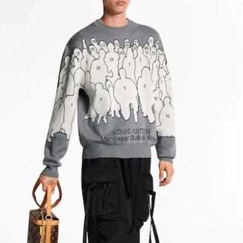 Louis Vuitton Knits & Sweaters Crew Neck Pullovers Wool Long Sleeves Knits & Sweaters 3