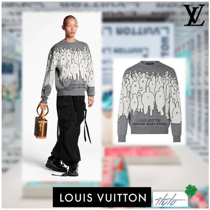 Louis Vuitton Knits & Sweaters Crew Neck Pullovers Wool Long Sleeves Knits & Sweaters