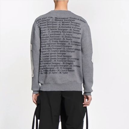 Louis Vuitton Knits & Sweaters Crew Neck Pullovers Wool Long Sleeves Knits & Sweaters 7