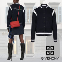 GIVENCHY Wool Street Style Bi-color Varsity Jackets