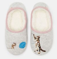 JULES Round Toe Casual Style Unisex Faux Fur Other Animal Patterns