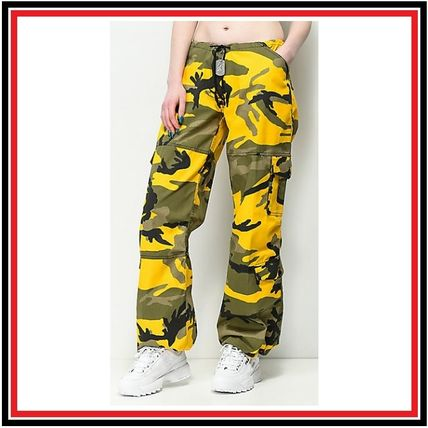 Camouflage Casual Style Street Style Long Military Pants