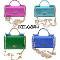 Dolce & Gabbana Calfskin 2WAY Plain Party Style Elegant Style Shoulder Bags