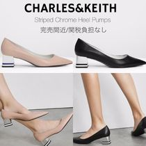 Charles&Keith Casual Style Faux Fur Plain Party Style Office Style