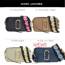 MARC JACOBS Snapshot Casual Style Unisex Vanity Bags Leather Party Style