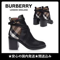 Burberry Other Check Patterns Casual Style Plain Party Style