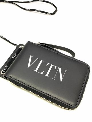 VALENTINO Folding Wallets Street Style Leather Folding Wallets 3