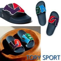 TORY SPORT Casual Style Blended Fabrics Shower Shoes Flat Sandals