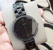 Fossil Casual Style Blended Fabrics Leather Quartz Watches