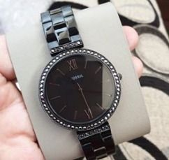 Casual Style Blended Fabrics Leather Quartz Watches