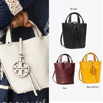Tory Burch MILLER Casual Style Leather Purses Crossbody Logo Totes