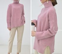 Casual Style Long Sleeves Plain Long Office Style Oversized