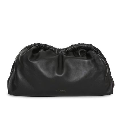 Casual Style Lambskin Plain Party Style Logo Clutches