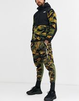 THE NORTH FACE Camouflage Unisex Blended Fabrics Street Style Logo Bottoms