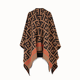 FENDI Wool Logo Ponchos & Capes
