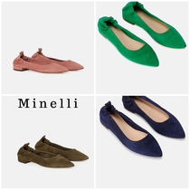 minelli Casual Style Plain Leather Pumps & Mules