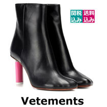 VETEMENTS Round Toe Casual Style Blended Fabrics Street Style Plain