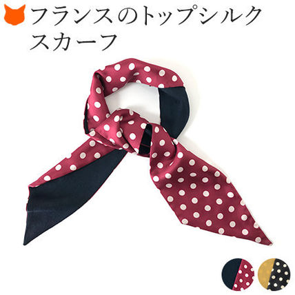Dots Casual Style Wool Silk Elegant Style