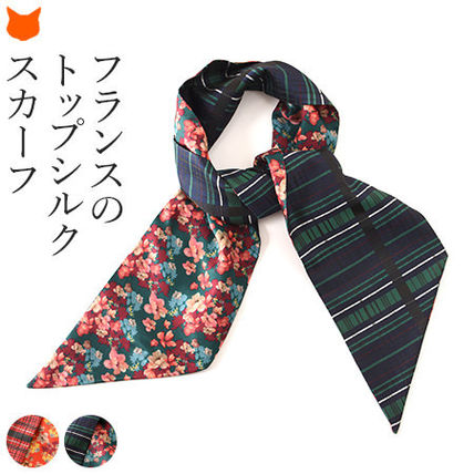 Other Plaid Patterns Flower Patterns Casual Style Silk