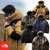 THE NORTH FACE Camouflage Unisex Street Style Khaki Down Jackets