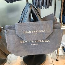 DEAN&DELUCA Casual Style Unisex A4 Plain Logo Totes