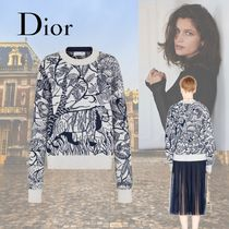 Christian Dior Casual Style Cashmere Long Sleeves Office Style
