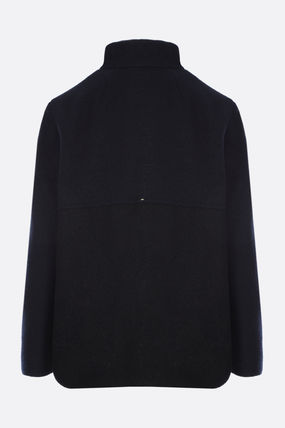 Casual Style Wool Fur Plain Office Style Jackets