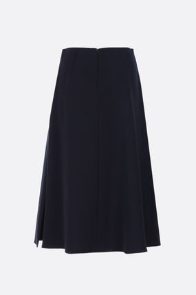 Flared Skirts Casual Style Plain Medium Party Style