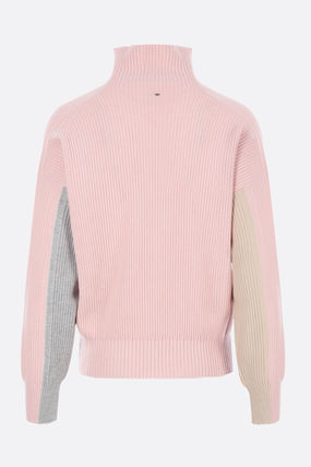 Casual Style Wool Long Sleeves Plain Office Style
