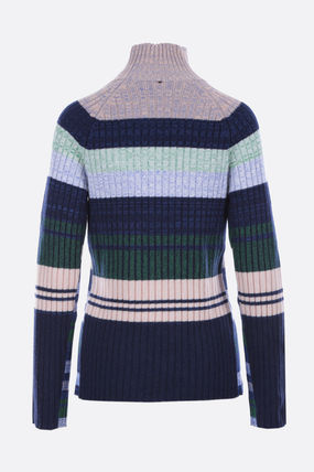 Stripes Casual Style Wool Long Sleeves Office Style