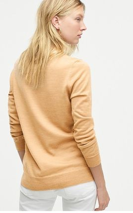 Wool Plain V-neck & Crew neck