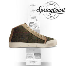 Spring Court Suede Street Style Bi-color Sneakers