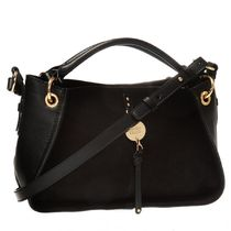 See by Chloe Casual Style Suede Plain Shoulder Bags