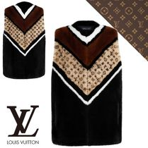 Louis Vuitton Short Monogram Casual Style Leather Elegant Style