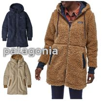 Patagonia Casual Style Unisex Street Style Plain Long Handmade Coats