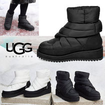 UGG Australia Platform Plain Toe Mountain Boots Rubber Sole Casual Style